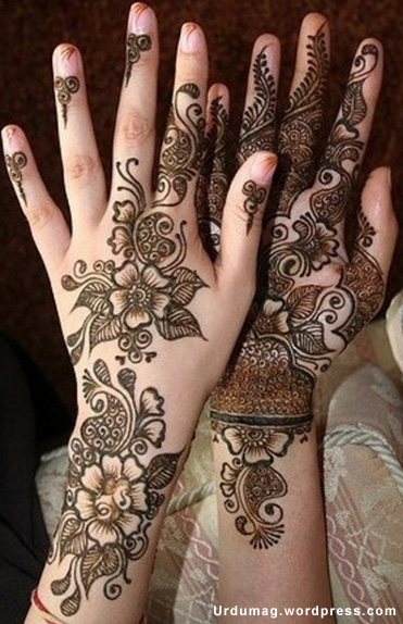 Mehndi (Hindi: मेहँदी, Urdu: مہندی) is the application of henna as a