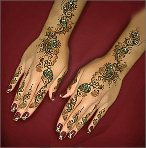 Pakistani Mehndi Designs bale foot henna design