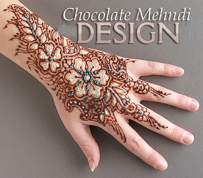 Chocolate Mehndi Design for Karva Chauth